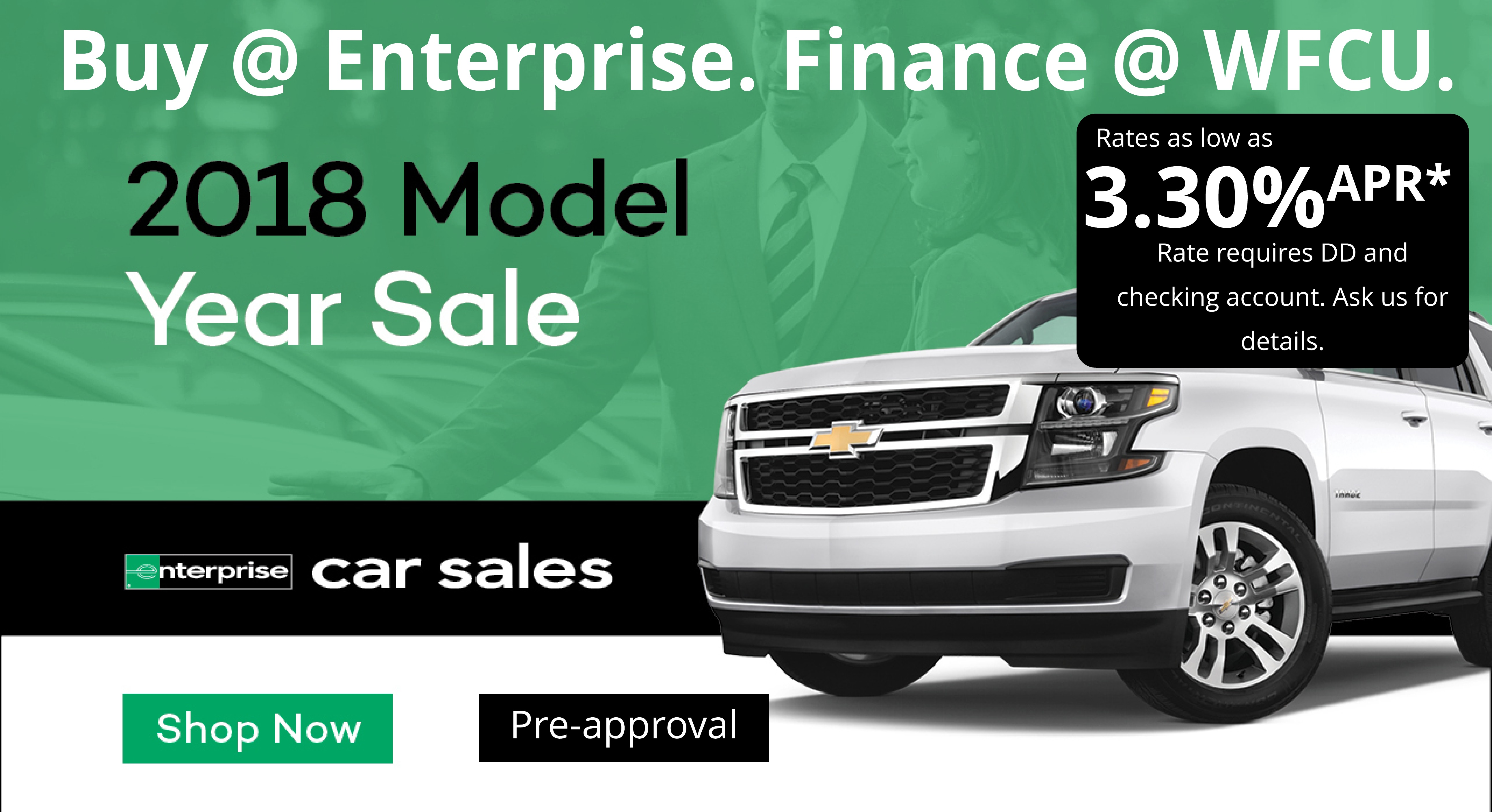 Enterprise Ad with truck with headline that says